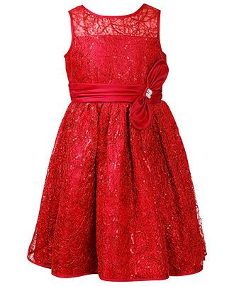 Bloome Girls Dress- Girls Bow-Accented Holiday Dress - Kids Girls ...