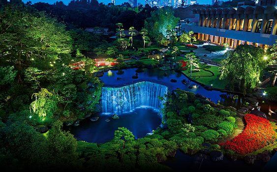 日本庭園 ライトアップ イメージ01