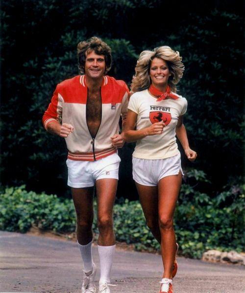Farrah and her husband Lee Majors