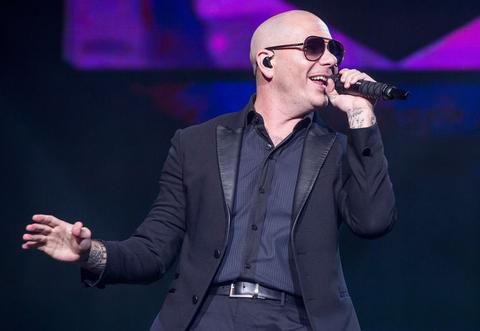 Pitbull Performing Onstage