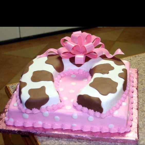 Cowgirl Baby Shower Cakes: Horseshoe Cakes