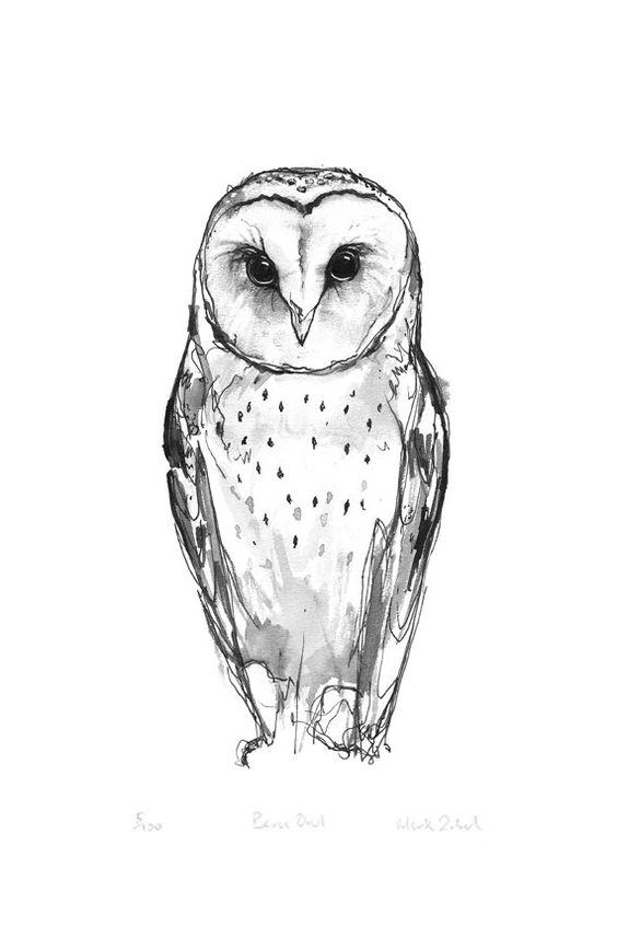 Grandma ~ Barn Owl Print. $26.50, via Etsy.