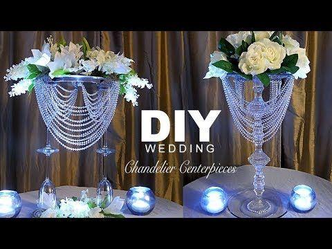 Diy Wedding Chandelier Centerpiece Youtube Wedding