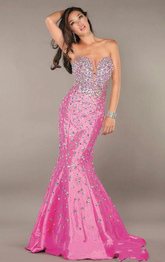 Pink Wedding Dresses Mermaid Style : Pink wedding dresses hot mermaid dressesmermaid