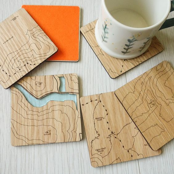 Peak District Contoured Coasters