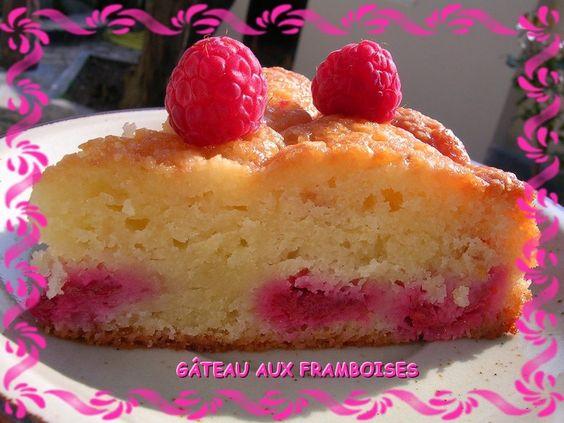 Gâteau fondant amandes et framboises pour utiliser ses blancs d'oeufs en trop!!