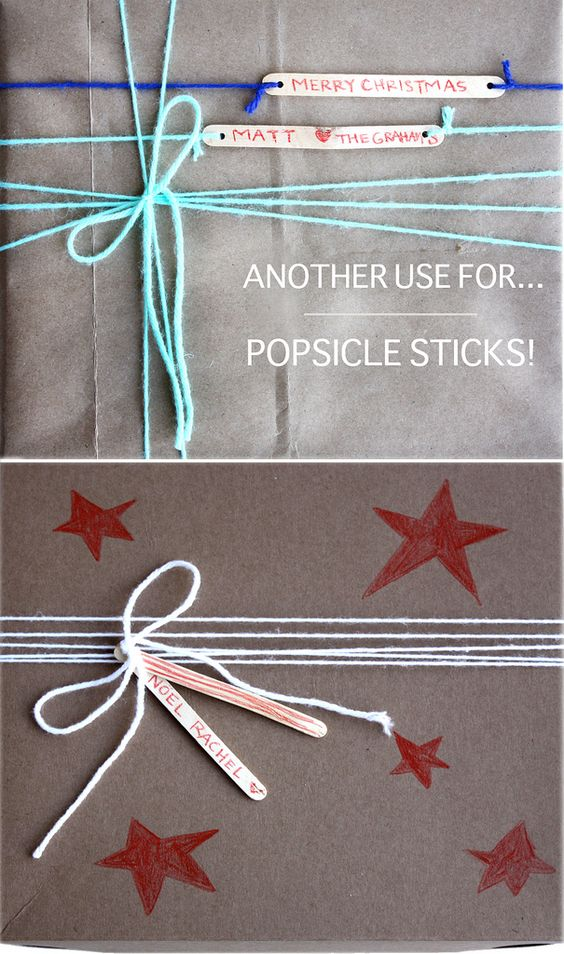 popsicle stick gift tags!:
