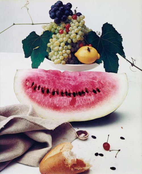 """""""Still Life with Watermelon, New York"""", photograph by Irving Penn, 1947"""