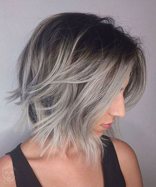 Pretty Grey Ombre Short Shaggy Hairstyles Not To Miss Out This Year Trendy Hairstyles Short Hair Styles Short Ombre Hair Hair Styles