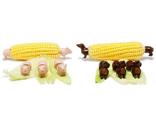 Weenie Dog Corn Holders