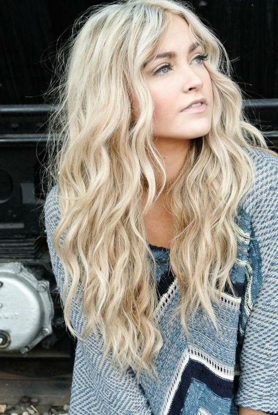 Blonde tones Fawn wavy