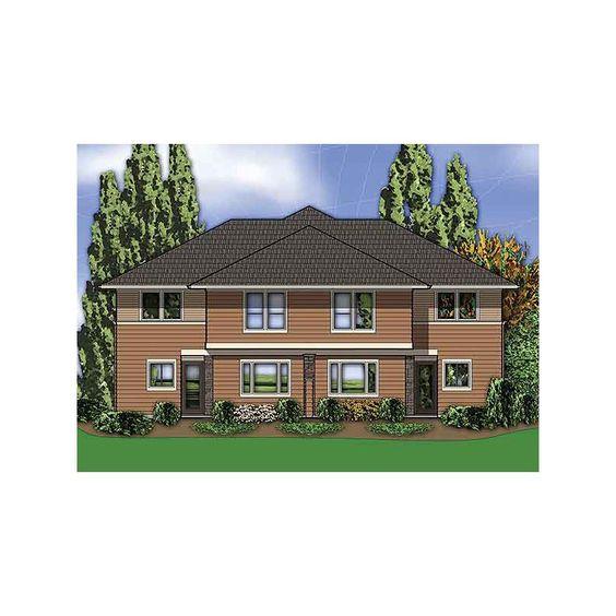 Strange Builder Plans Multi Family Plans Hillside Multi Family Home Plan Inspirational Interior Design Netriciaus