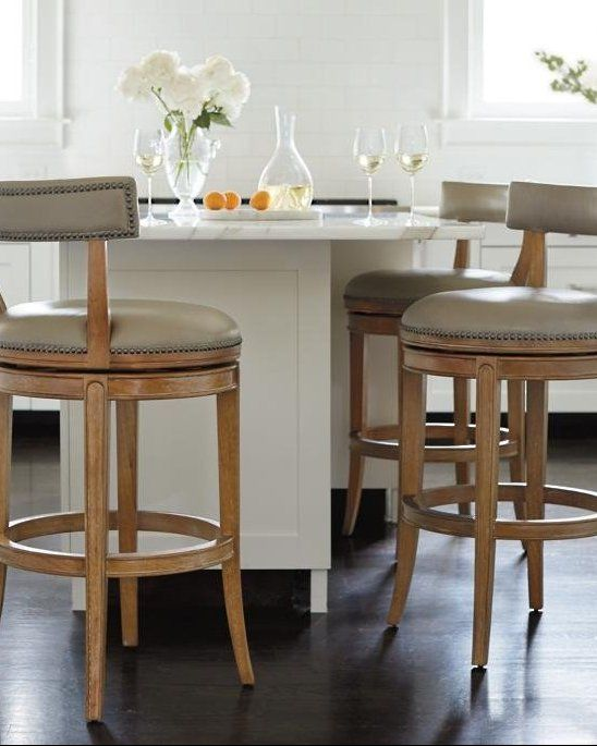 The Classic Lines And Elegant Details Of The Henning Low Back Bar And Counter Stools Are A Welcome Additi Counter Stools Designer Bar Stools Leather Bar Stools
