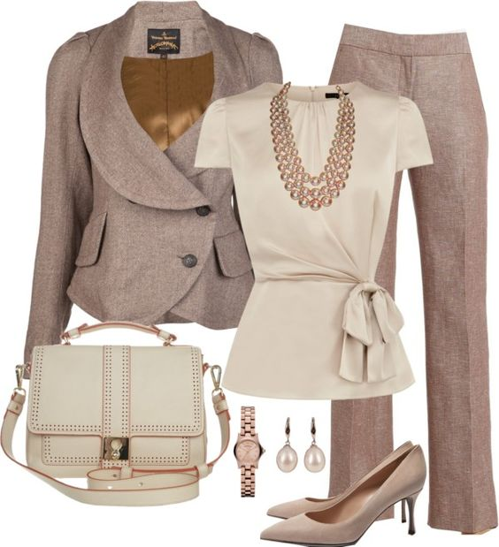 6. Job interview outfit: this outfit is formal for any job interview. This outfit looks classy! It's can be worn either way! With out without the jacket.: