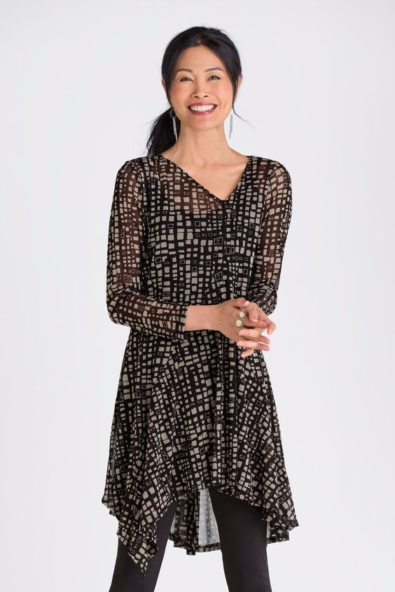 Whirlwind Tunic by Spirithouse. With its flowing shape and geometric print, this…: