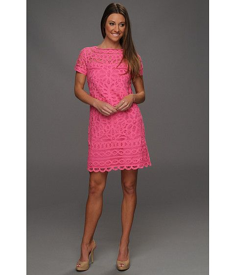 Lacy hot pink shift dress from Lilly Pulitzer. zappos  Color ...