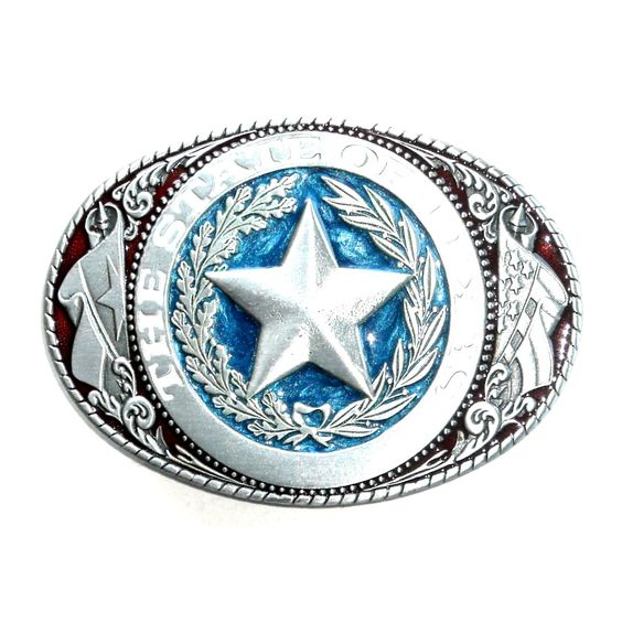 State Of Texas Vintage Great American Pewter Belt Buckle