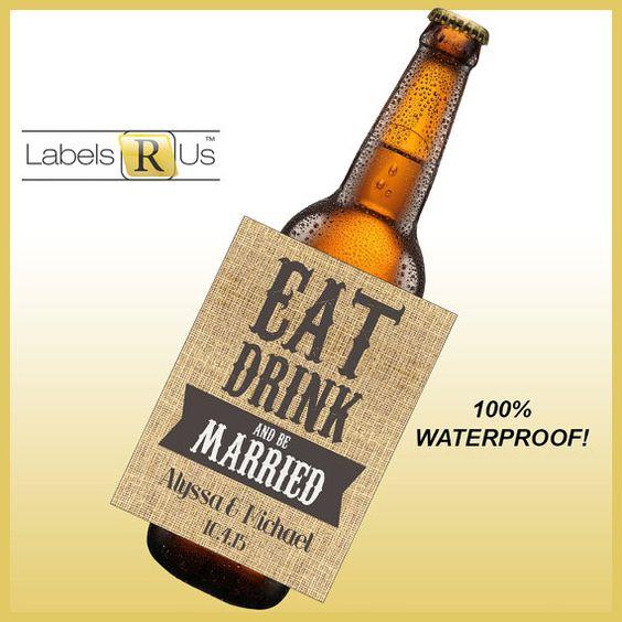 Custom Beer Bottle Labels Personalized Wedding By: Rustic Wedding Beer Bottle Labels