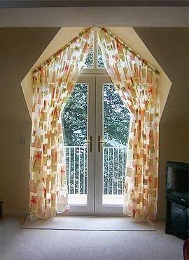 Dormer window curtains: