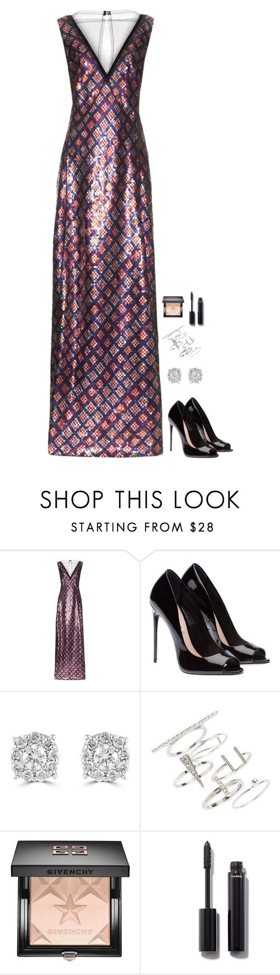 """""""Untitled #634"""" by h1234l on Polyvore featuring Marc Jacobs, Effy Jewelry, Topshop, Givenchy and Chanel"""