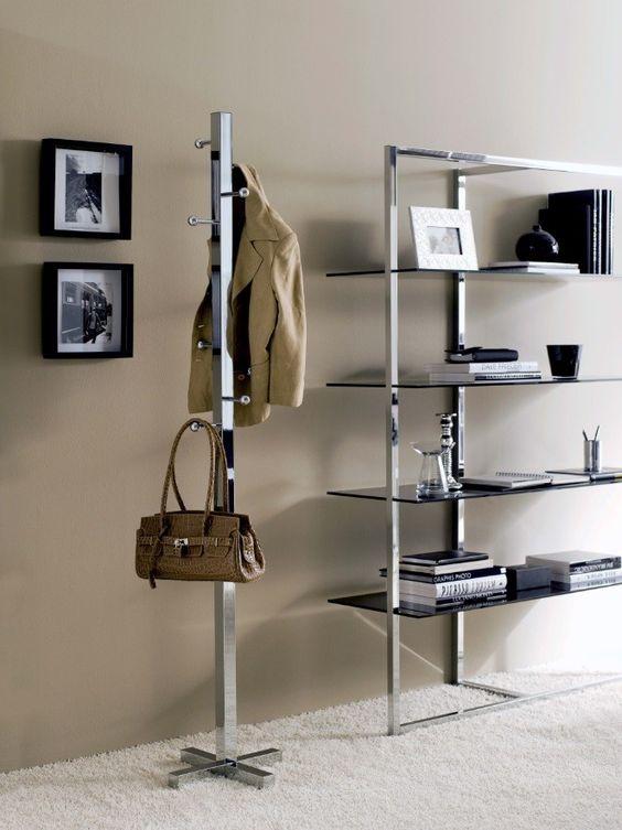 Perchero de pie moderno eiros ambar muebles deco for Percheros de metal