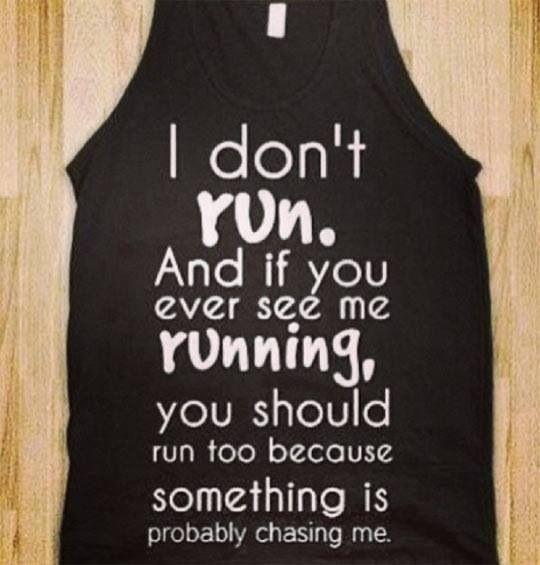 no running!