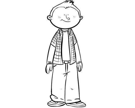 Caricaturas De Niños Para Colorear: Niños Para Colorear - Buscar Con Google