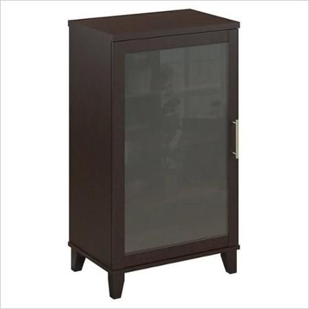 Bush Somerset Audio Cabinet or Bookcase in Mocha Cherry