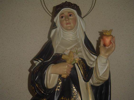 Santa Catarina de Sena - Capela das Irs. Dominicanas de Sta. Cat. de Sena, em Amparo, Brasil. (A.A.)