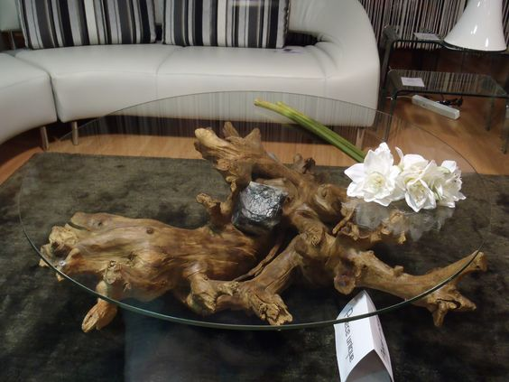 table basse souche d 39 arbre tree roots coffee table table bois pinterest caf tables. Black Bedroom Furniture Sets. Home Design Ideas