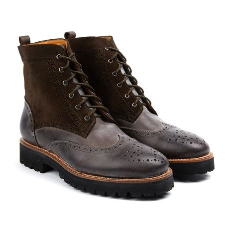 Eyelet Lace-Up Boot // Brown (US: 7)