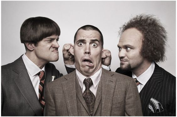 Jackass Crew as the Three Stooges
