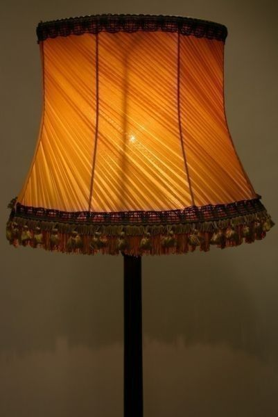 Standard lamp with shade
