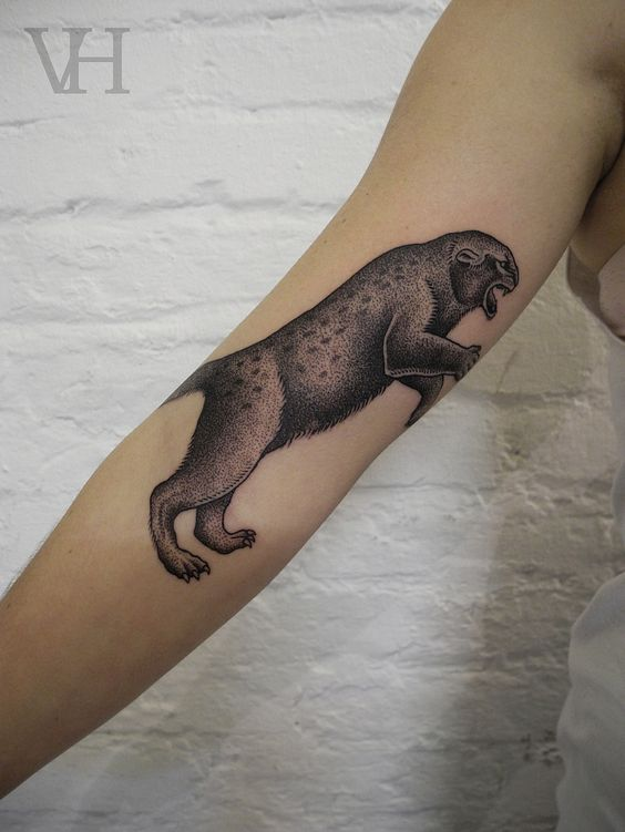 panther by valentin hirsch #arm #tattoos
