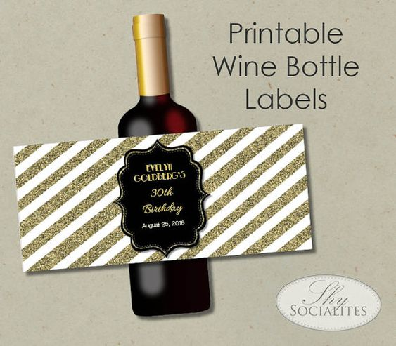 wine labels gold glitter and black gold on pinterest