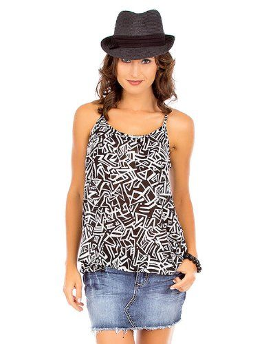 G2 Fashion Square Women's Printed Chiffon Top