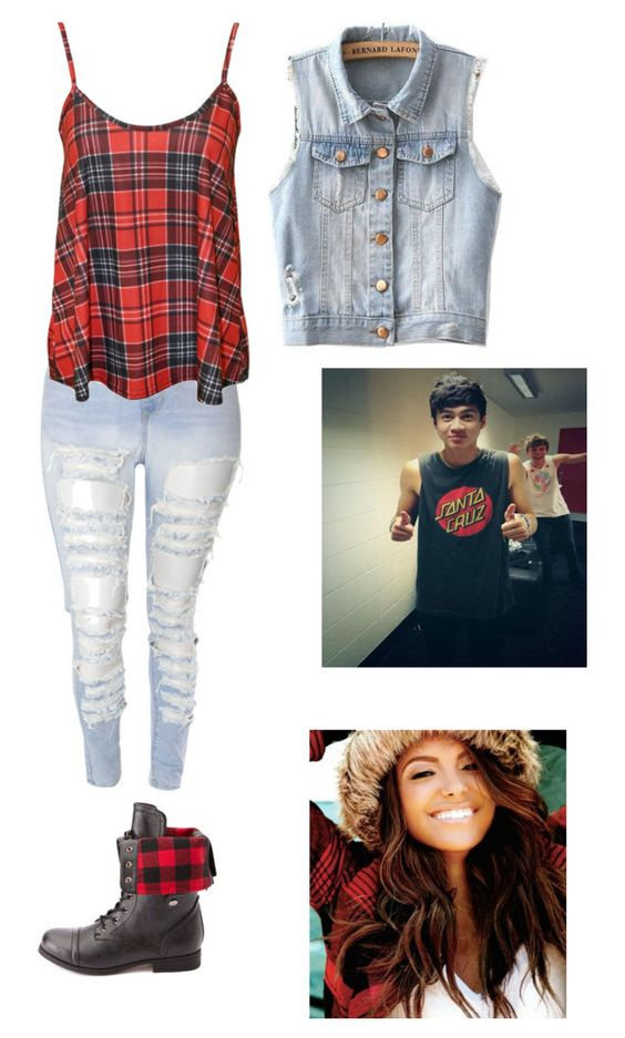 """#Movie Date //Calum Hood//"" by outfits5sos-imagines ❤ liked on Polyvore featuring Charlotte Russe and JVL"
