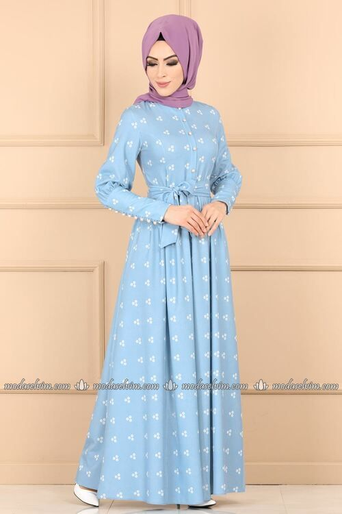 Tesettur Abiye Modelleri Bej Uzun Klos Etekli Desenli Cicekli Elbiseler Elbise Elbise Modelleri
