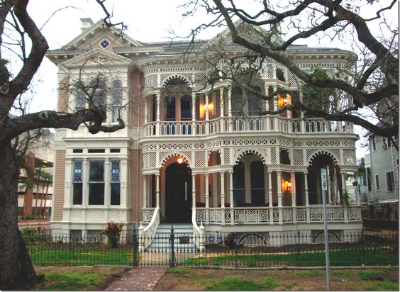 Galveston texas and victorian on pinterest for 1900 architecture houses