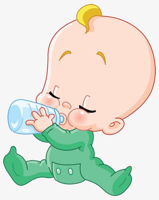 The Cartoon Baby In Milk Child Drink Milk Lovely Png Image Baby Drawing Baby Cartoon Baby Scrapbook