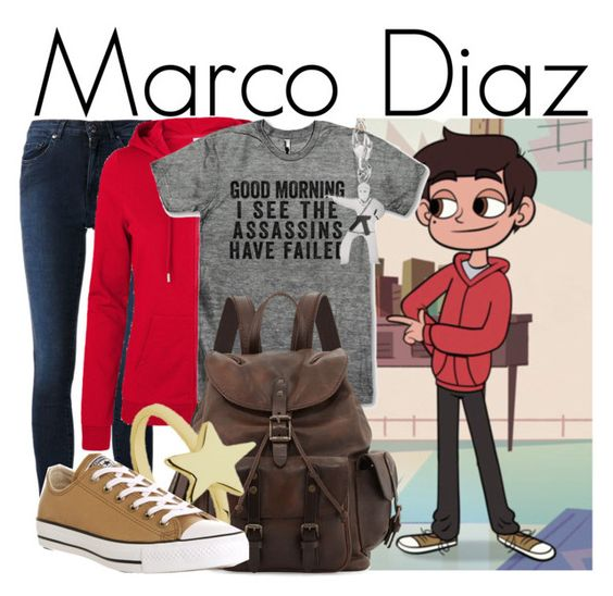 """Marco Diaz from Star vs The Forces of Evil"" by ginger-coloured ❤ liked on Polyvore featuring Acne Studios, Vero Moda, Frye, Meadowlark, Converse, disney and Starco:"