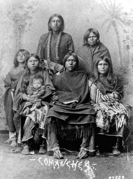 Comanche family, no date | Lipan, Jicarilla, Kiowas ...