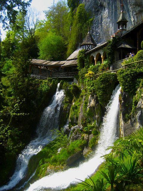 Waterfall walkway, Thailand