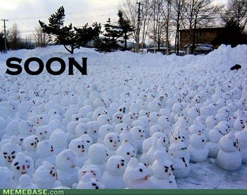 If I walked outside & saw this, I'd stay inside until Spring.