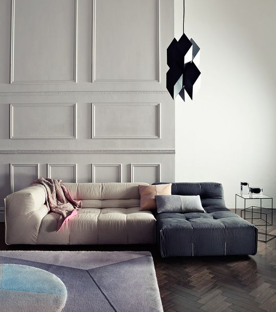 Tonal colour palette - geometric shapes