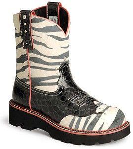 Ariat Fat Baby Boots Zebra