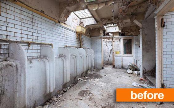 ビフォー&アフター:イギリスの公衆トイレを住居に改装