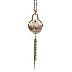 Wind Up Globe Tassel Necklace now featured on Fab.