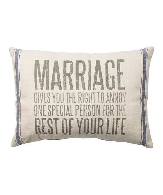 Another great find on #zulily! 'Marriage' Throw Pillow by Primitives by Kathy #zulilyfinds