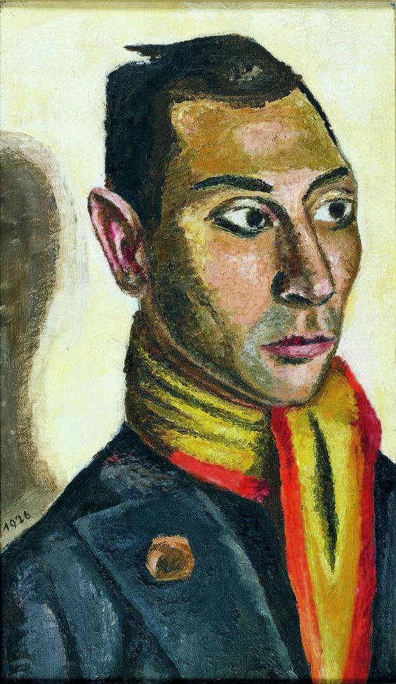 MARIE-LOUISE VON MOTESICZKY Wien 1906 - 1996 London APACHE, 1926 Öl auf Leinwand, 46,1 x 27 cm